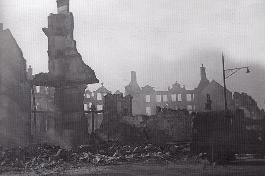 The remains of Caer Street