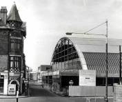 The new roofed Swansea Market looking down Orange Street 1957