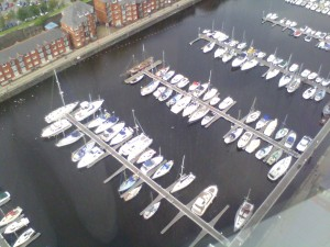 Swansea marina from the new Tower pictured in August 2011