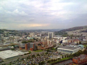Swansea city centre 2011