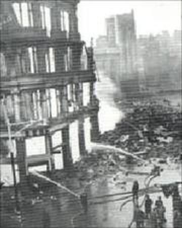 Ben Evans burns 1941