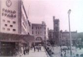 David Evans at the foot of a pedestrianised Temple Street in the 1960s