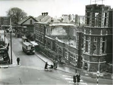 Dynevor school looking towards what is today the Kingsway