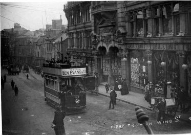 First tram Castle Street