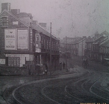 Hafod, the houses on the left are today just an open landscaped space with trees
