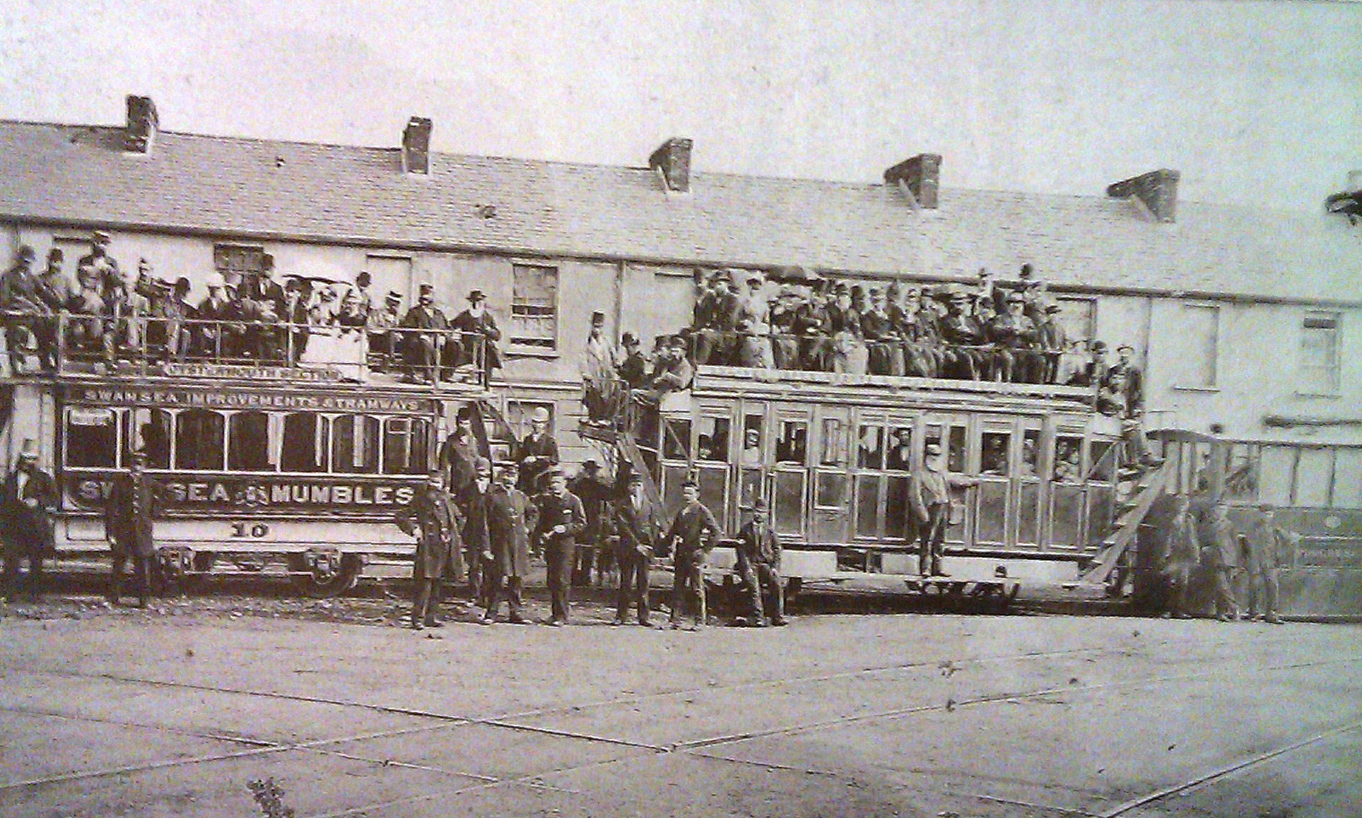 m train rutland street 1878 - The Swansea & Mumbles Railway