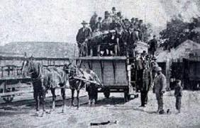Mumbles horse drawn train about 1870