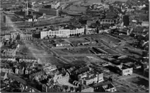Swansea with its original street layout pictured around 1945