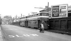 A Mumbles train departs the station at Rutland street in 1959