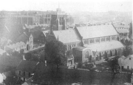 aerial view of St Marys Swansea