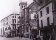 Bomb damaged Labour Exchange in Castle street before redelopment into the offices of the Evening Post