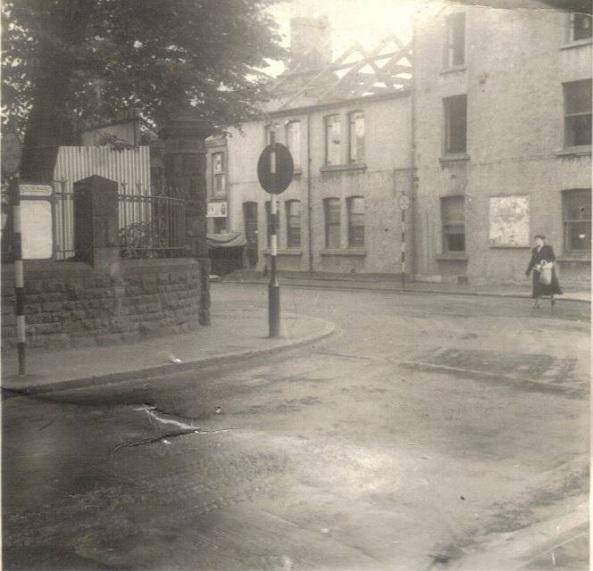 eastern gate to St Marys Church Cross Street swansea