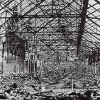 Wartime damage to the market roof