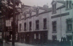 The Swan Inn Gower Street which was destroyed in the bombing - Gower Street now forms part of the Kingsway