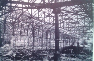 Damaged market in 1941