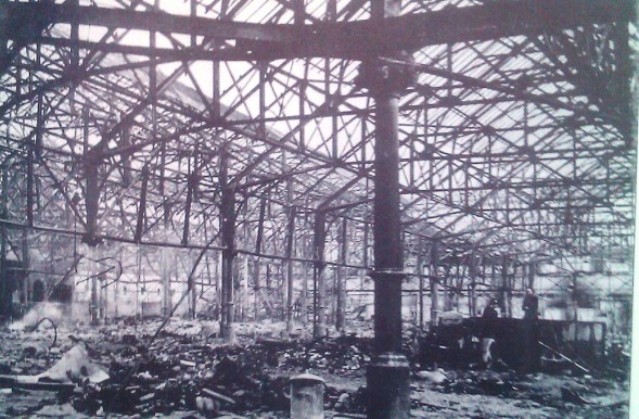 Damaged market in 1941