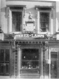 Three lamps Pub temple street Swansea