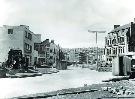 Fisher Street 1960 making way for Princess Way