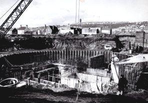 foundations WGCC County Hall eary 1970s
