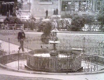 The fountain in castle gardens in 1976