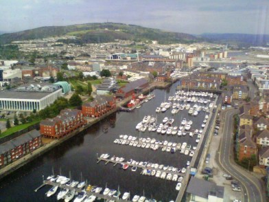 Swansea Marina in August 2011