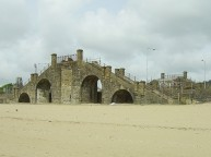 Base of the Slip bridge near the guildhall