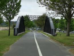 Restored and resited Slip Bridge