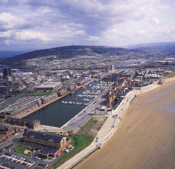 Swansea foreshore and Marina