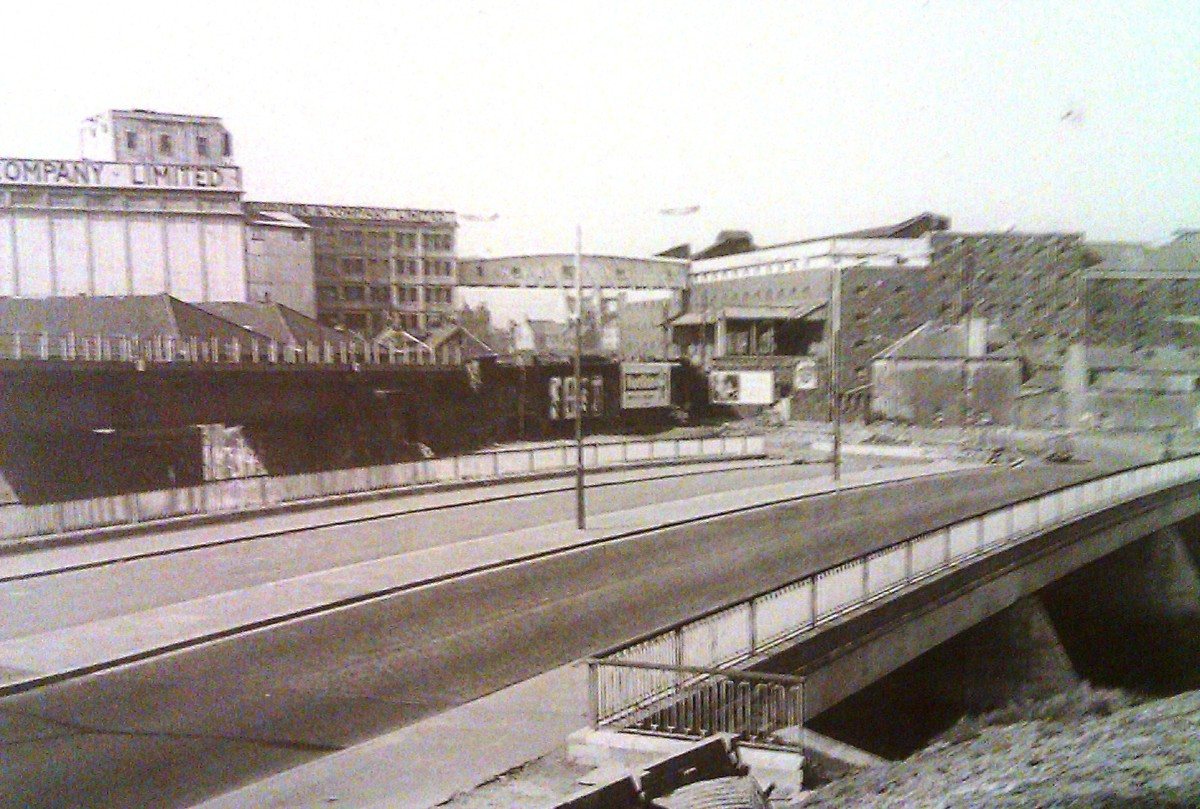 River Tawe Swansea 1964 new cut bridge