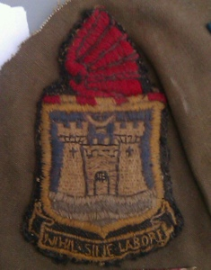 "The School Badge - the Latin inscription means ""Nothing without effort"""