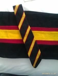 Garments in the school colours for Dynevor grammar School Swansea