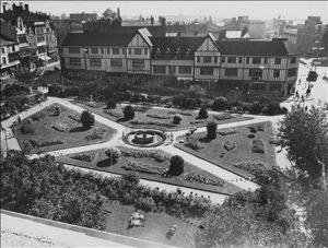A 1950s view of Castle Gardens in central swansea
