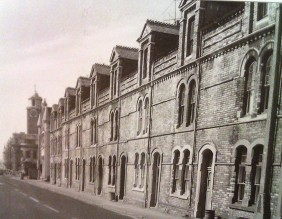 New Orchard Street 1976 looking towards the Police Station in Alexandra Road