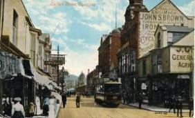 Swansea Oxford street with tram