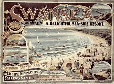 Postcard Swansea Beach