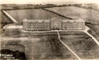 Teacher Training at Townhill in Swansea, note the absence of housing. The Townhill estate generally was laid out in 1918.