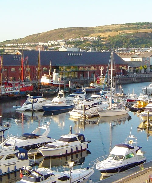 The original Marina at Swansea created from the South Dock