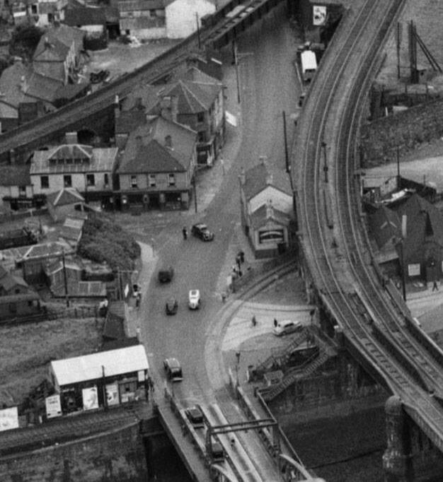 Aerial of Bridge street Swansea