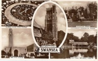 postcard Montage Swansea