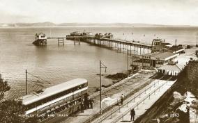 Arriving at mumbles pier