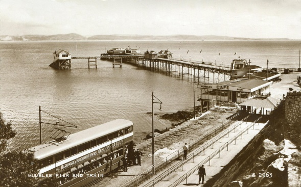 Arriving at mumbles pier