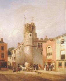 Swansea Castle from Wind Street