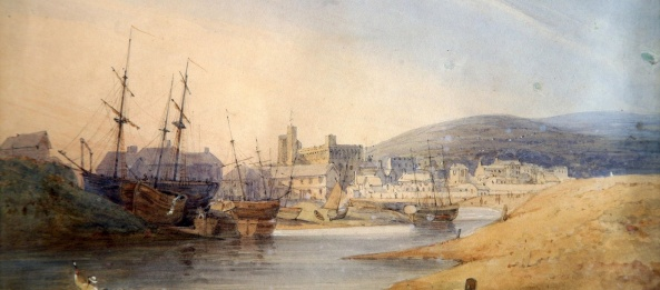 The Ferryside at the mouth of the Tawe around 1800