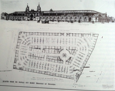 proposed Swansea market plan 1895