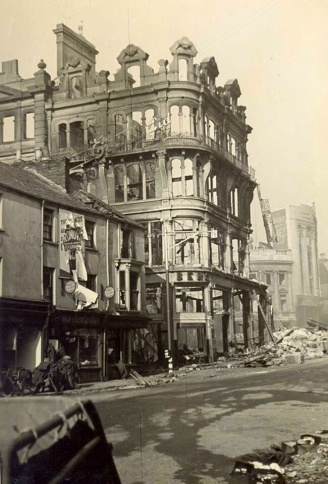 Ben Evans pictured in February 1941 following the 3 nights blitz of the town