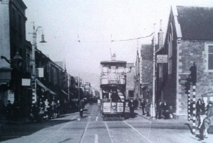 Oxford street approaching Dillwyn Street junction