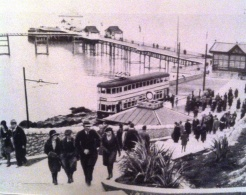 A day trip to the pier at swansea by the mumbles electric train