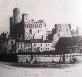 Swansea Castle from the river-side