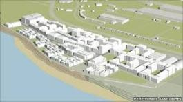 impression of the new Campus at Jersey Marine