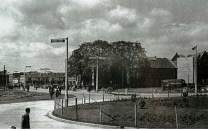 Kingsway roundabout at Swansea 1950s
